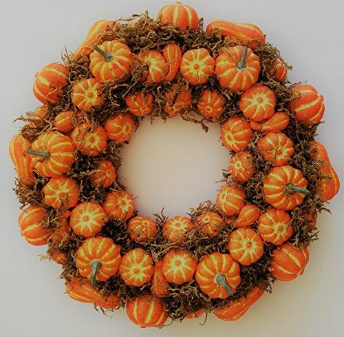 Fall Halloween Thanksgiving Artificial Pumpkin Front Door Wreath (19