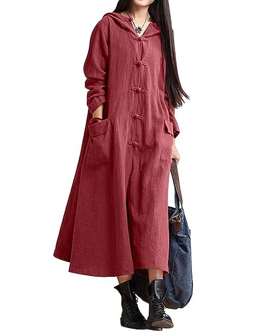 BIUBIU - Vestido - abrigo - Básico - para mujer: Amazon.es: Ropa y accesorios
