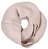Simplicity Lightweight Solid Color Circle Scarf for Women and Men, Beige