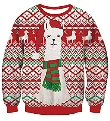 Leapparel Men&Women Ugly Christmas Sweater Funny Sweatshirt Long Sleeve Pullover