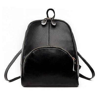 ace0008e9a Amazon.com  Jonon Womens Fashion Simple Style Leather Backpack Shoulder Bag  (Black)  Shoes