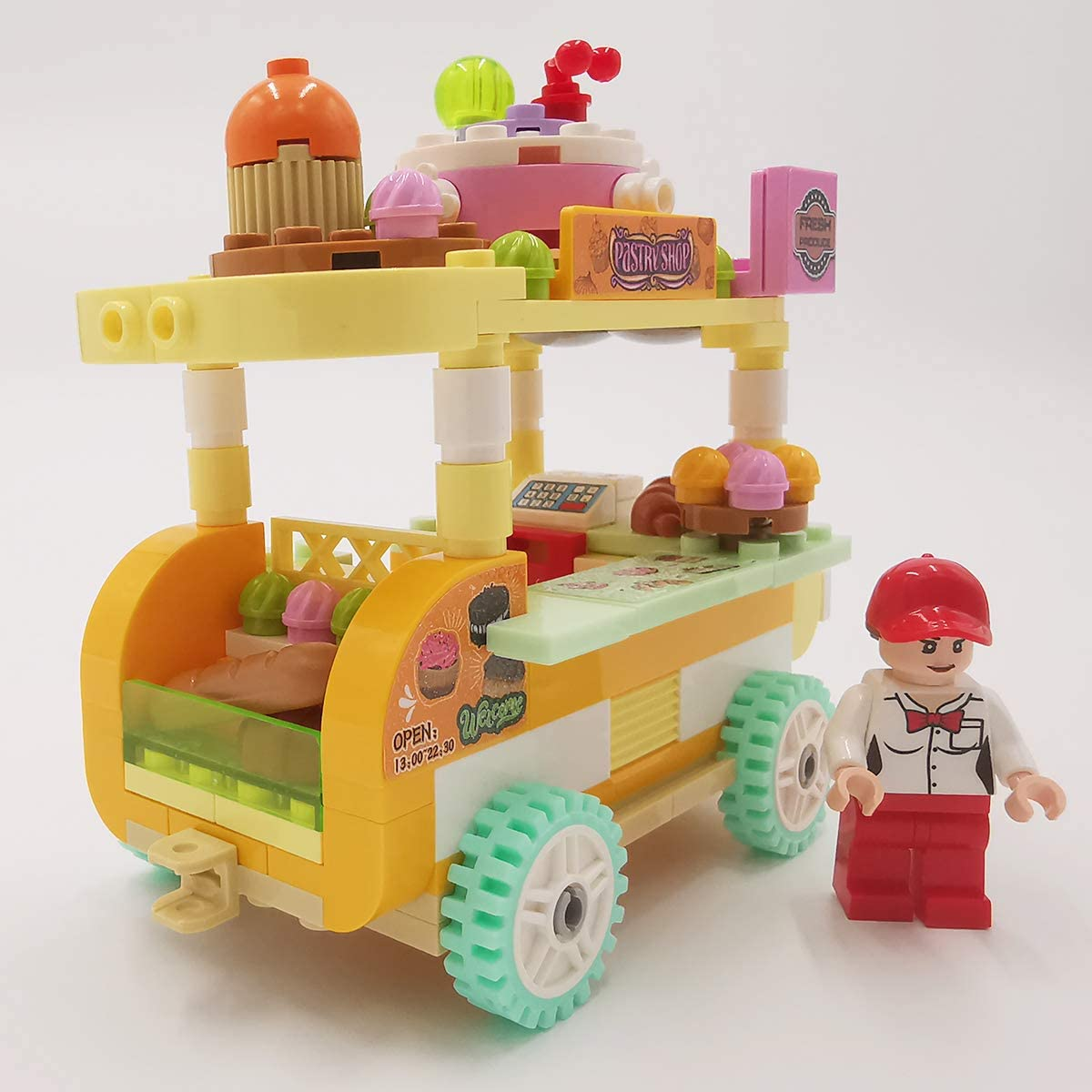 Barbecue Car Soniubia City Scape Building Sets Toys Mobile Selling Vehicle
