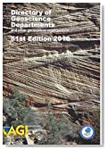 Directory of Geoscience Departments 2016