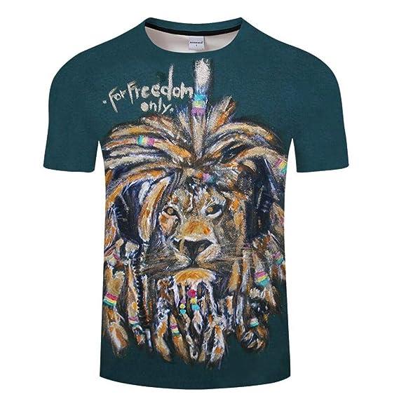 ZOOTOP BEAR Paint Lion 3D Printed T-Shirts Men Women Short Sleeve Camisetas | Amazon.com