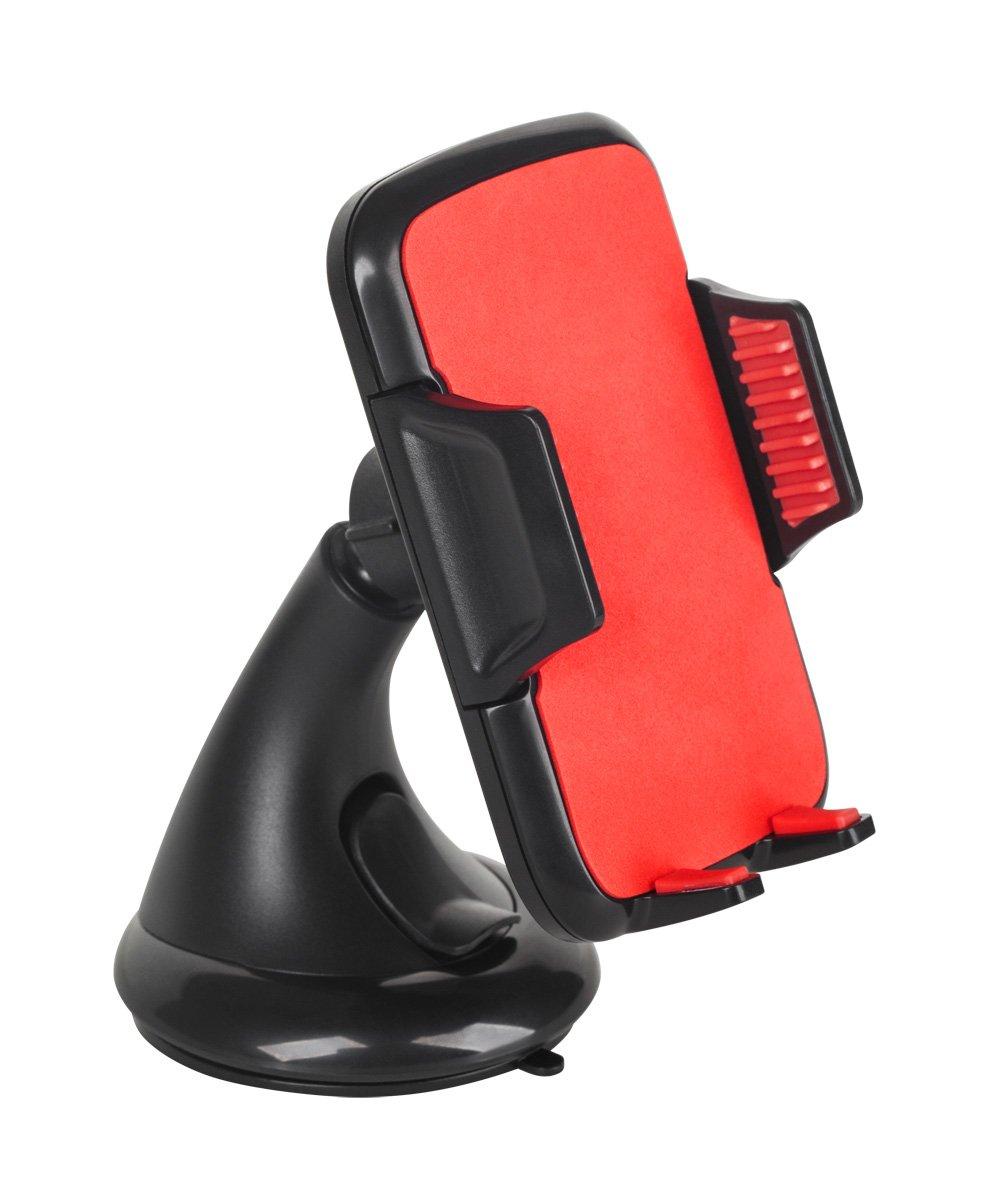 M de Life ml0668Support voiture pour Smartphone, Tablettes et Lecteurs MP3, miit ventouse, variable à rotule à 360° Rouge variable à rotule à 360° Rouge M-LIFE