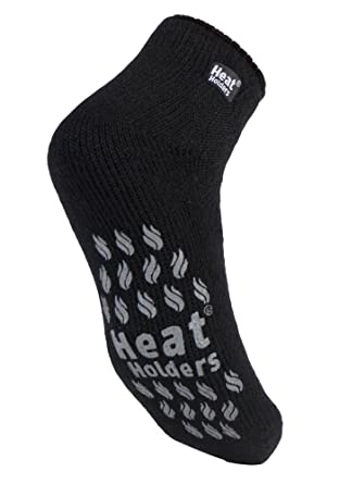 37a2ddad757b3 HEAT HOLDERS - Homme 2.3 TOG Hiver Chaudes Antidérapantes Thermique Haute  Pantoufles Chaussettes Renforcés Éponge (