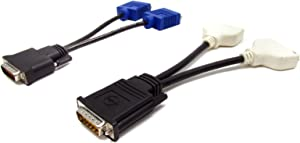 Dell DMS-59 to Dual DVI / DMS-59 to Dual VGA (Y Cable Kit)