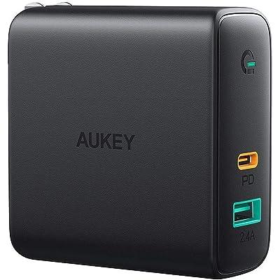 【24時まで】AUKEY GaN&折りたたみプラグ採用 PD対応 60W USB-C&USB急速充電器 PA-D3 送料込2,924円