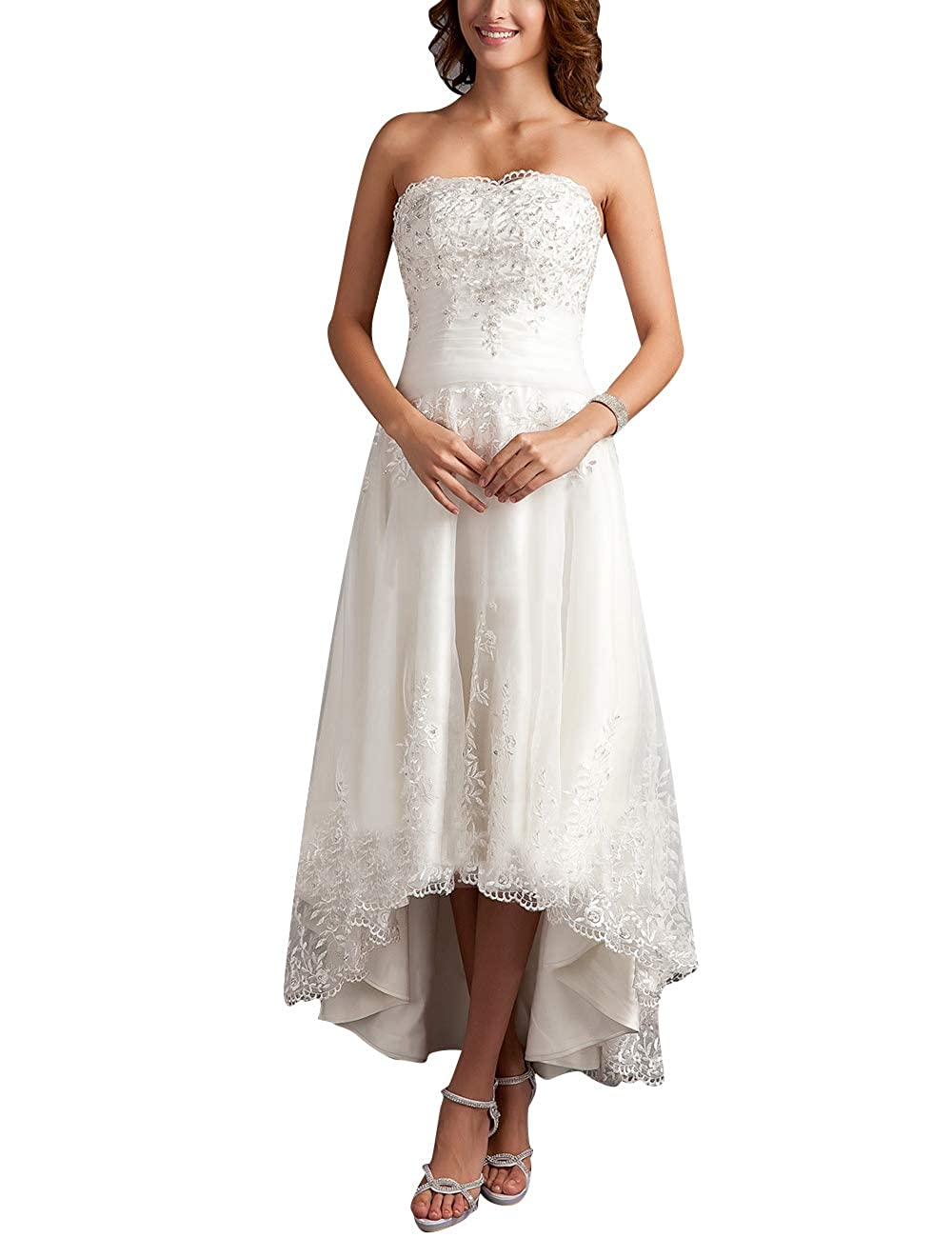 Cdress High Low Wedding Dresses Plus Size Bridal Gowns ...
