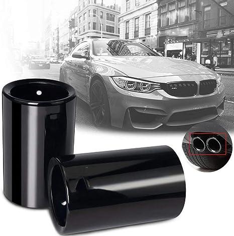 jkhsXJ 1pcs Stainless Steel Car Exhaust Pipe Muffler Tip Turbo Sound Whistle AUT,for BMW E30 E36 E46 E90 E91 E92 E93 F30 320i M