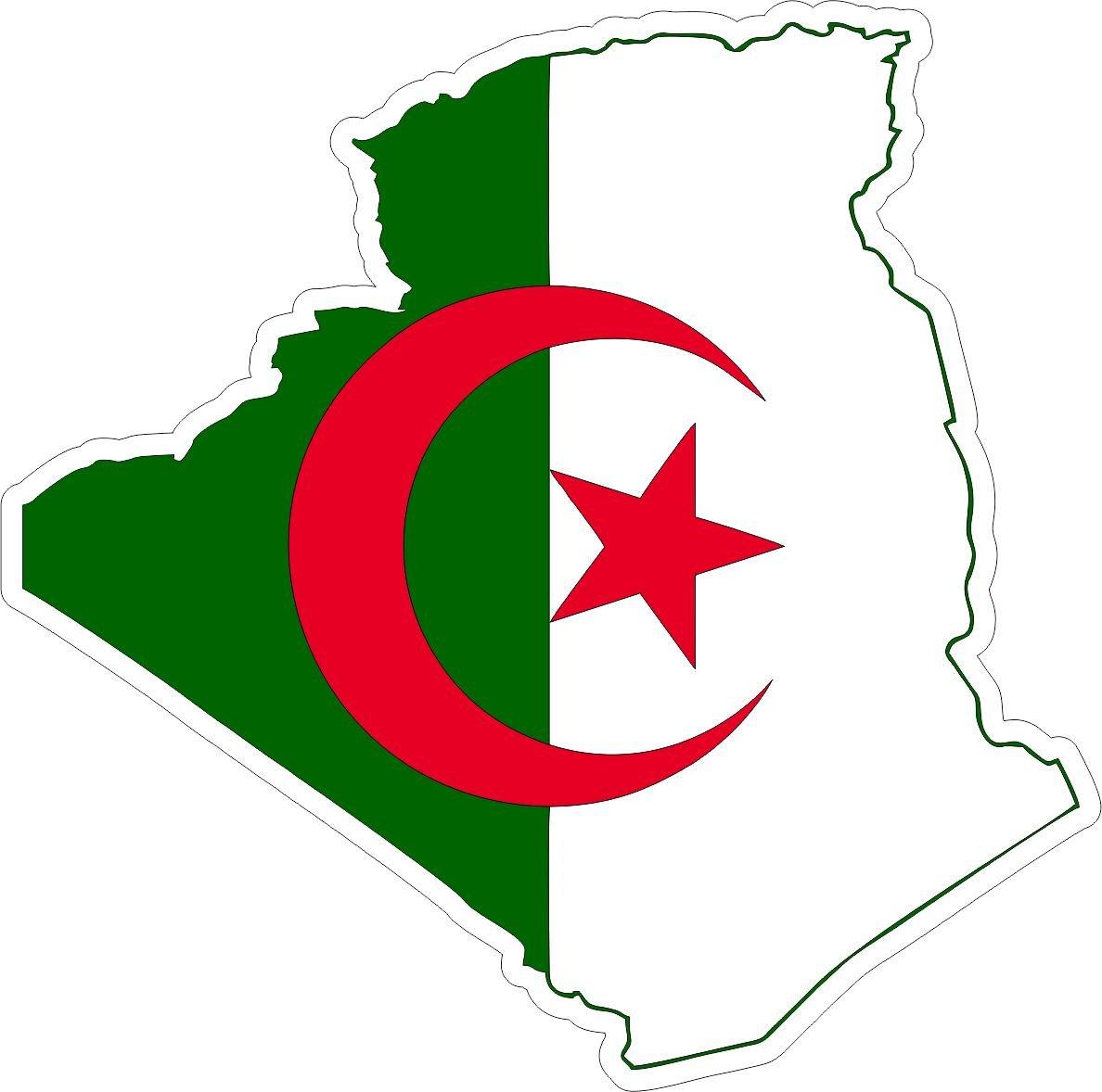 Autocollant sticker adhesif voiture vinyle drapeau carte algerie