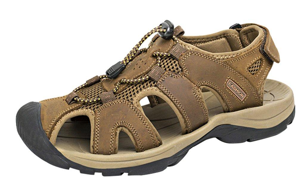 LOUECHY Men's Landam Fisherman Sandals Hiking Sandal Outdoor Sport Sandals B06ZY6MTCC 7.5 D(M) US|Brown