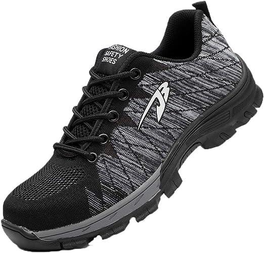 Zapatos de Seguridad para Hombres Zapatos de Acero con Punta de Seguridad, Zapatillas Deportivas Ligeras e Industriales Transpirables: Amazon.es: Zapatos y complementos