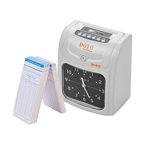 Aibecy DOYO Reloj de tiempo electrónico Pantalla LED Doble color Impresión con batería de almacenamiento incorporada