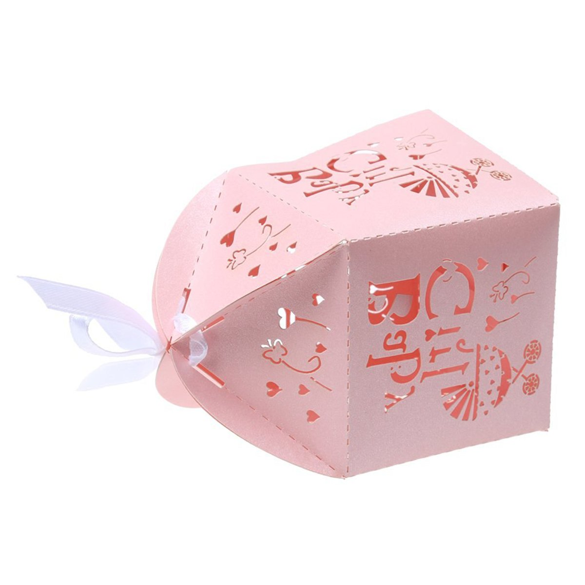 ULTNICE 50 St/ück Geschenkbox,Musik Wagen S/ü/ßigkeit K/ästen Hochzeit Bevorzugungen Box f/ür Hochzeit//Geburtstag//Party,Rosa