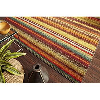 Amazon Com Mohawk Home New Wave Rainbow Printed Rug 2 X8