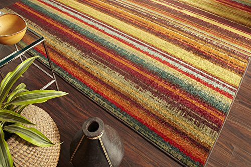 Mohawk Home New Wave Boho Stripeprinted Rug  2X8  Multi