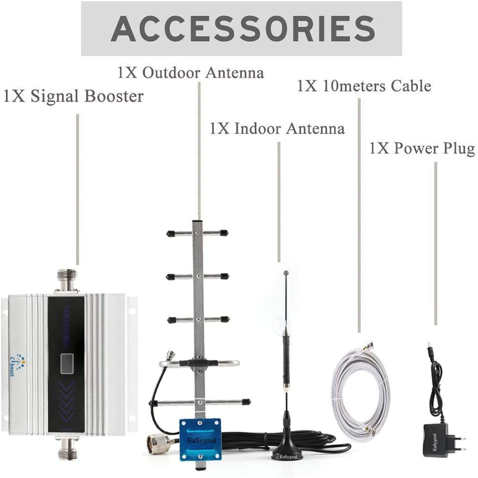CIBoost Cell Phone Signal Booster for Home Verizon ATT T-Mobile Sprint 3G Cellular Signal Repeater Home Amplifier Kit /…