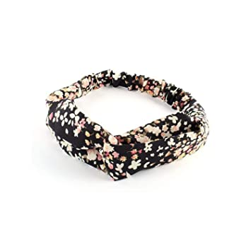 Women Popular Yoga Elastic Floral Hair Band Headband Turban Twisted Knotted