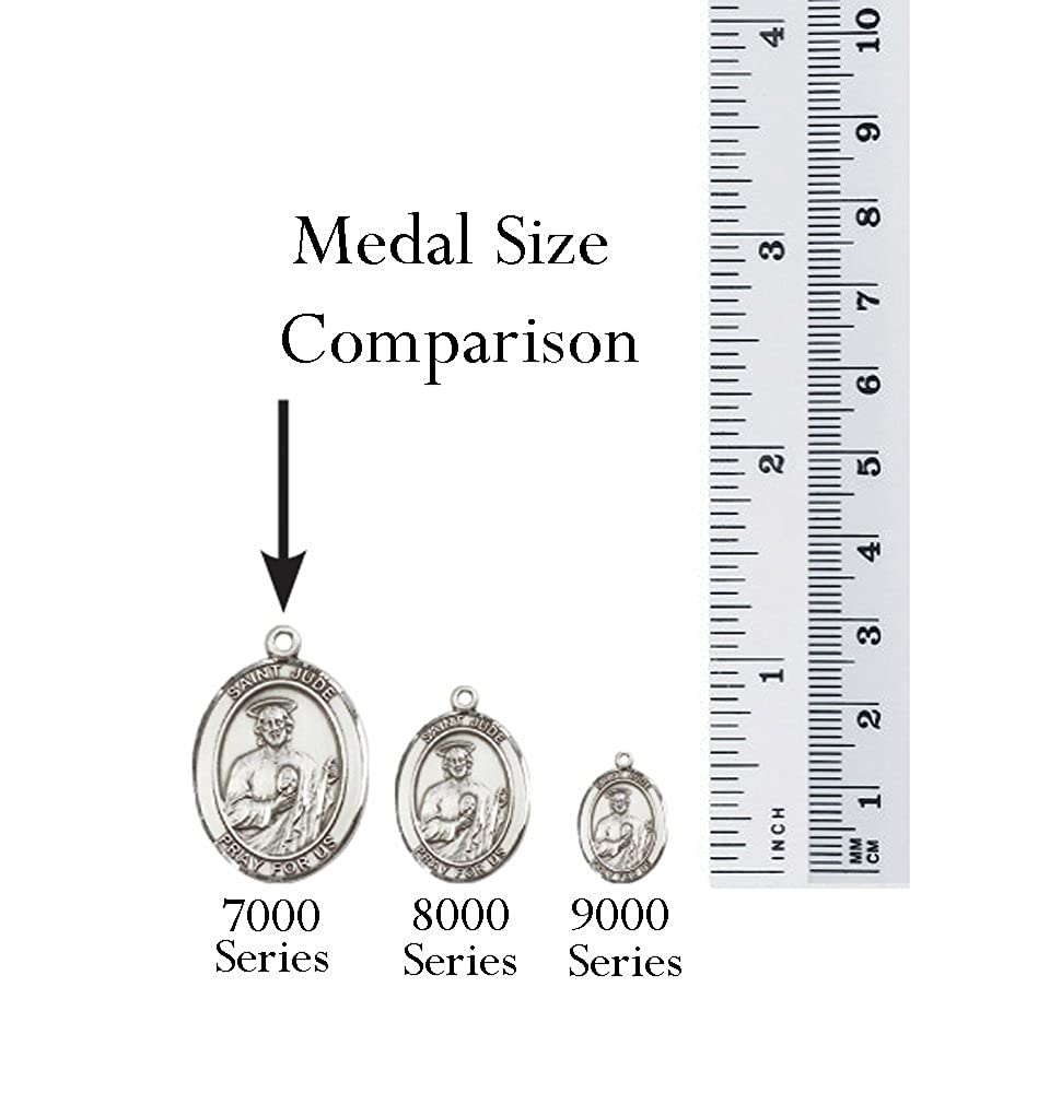 Michael//EMT Pendant with 24 Stainless Steel Heavy Curb Chain Patron Saint of Police Officers//EMTs F A Dumont Church Supplies Sterling Silver St