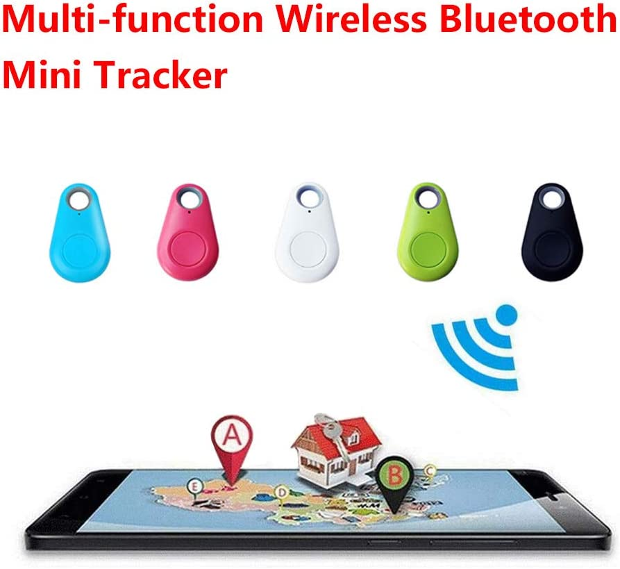 Phone Alarm Anti Lost Selfie Shutter Wireless Tracking Device GPS Tracking Collar for Kids Pets Key Wallet Dog Cat Bag Car Black+Blue Tracker Smart Finder Locator