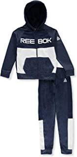Reebok Boys' Colorblocked 2-Piece Sweatsuit Pants Set Outfit