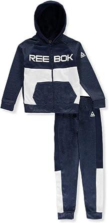 Reebok Boys Colorblocked 2-Piece Sweatsuit Pants Set Outfit