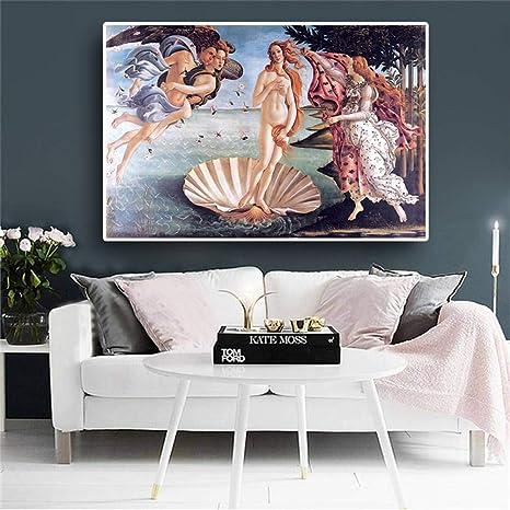 Amazon.com: YJFFBH Nacimiento De Venus Oi Pintura ...