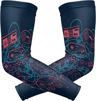 For Men Women Compression Arm Sleeves Cover Cooling UV Protection Outdoor Sports