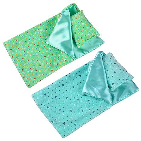 D DOLITY 2 pcs Miniatura Saco de Dormir Juegos Dressup para Muñeca Recién Nacida 18 Pulgadas
