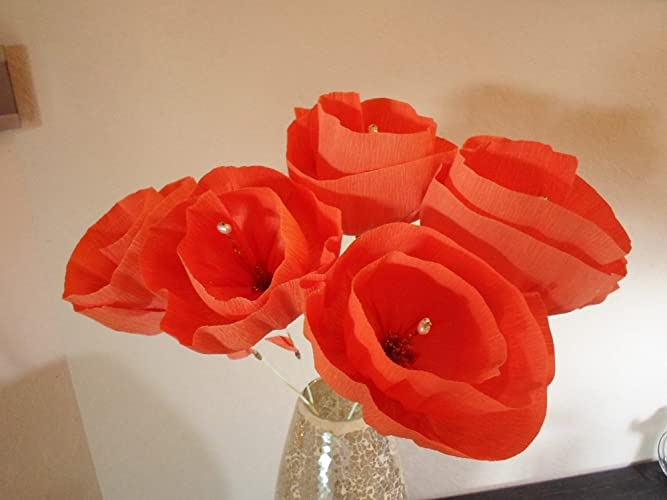 Amazon large mexican flowers set of 6 mexican crepe carrot large mexican flowers set of 6 mexican crepe carrot orange paper flowers mexican fiesta mightylinksfo