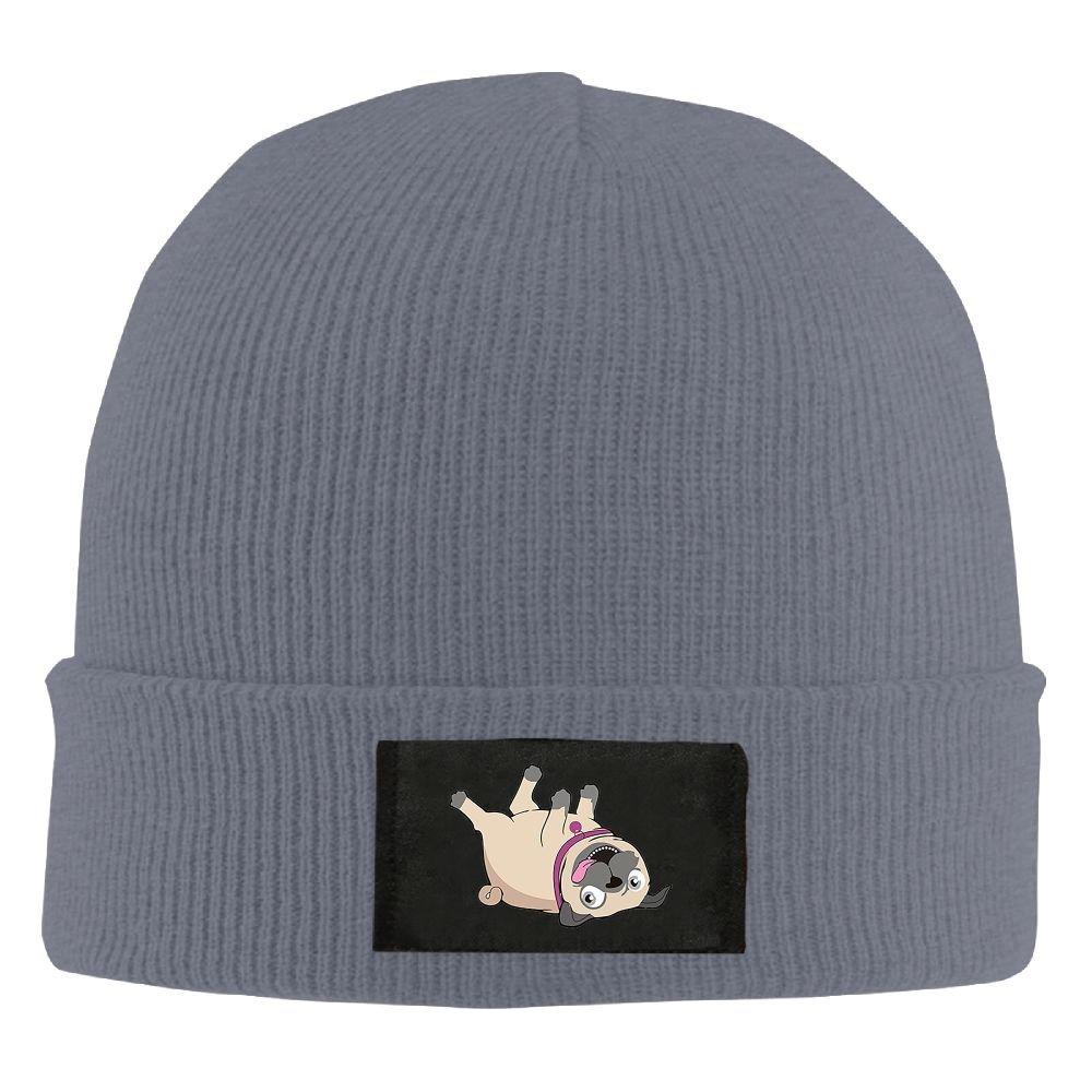 ROCHELLE AYOKO Puppy Pug Bulldog Cartoon Winter Warm Knit Hats Skull Caps  Soft Cuff Beanie Hat For Men And Women at Amazon Men s Clothing store  e0b255f890fa