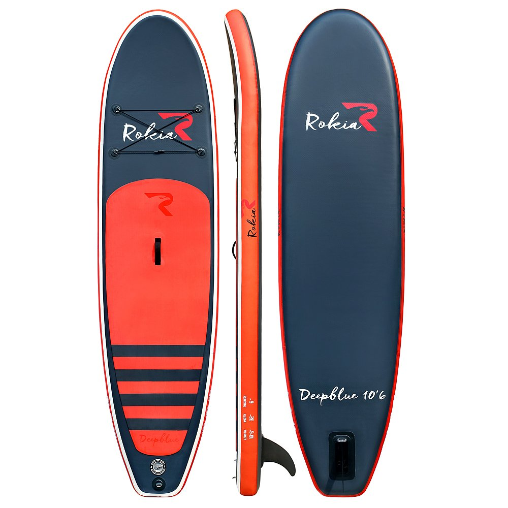 Rokia R 10'6'' Inflatable SUP Stand Up Paddle Board (6'' Thick) iSUP for Fitness, Yoga, Fishing on Flat Water, Orange by Rokia R (Image #2)