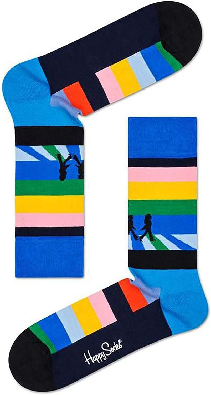 3 pezzi - Happy Socks x The Beatles Abbey Road Confezione regalo donna 0100 36-40
