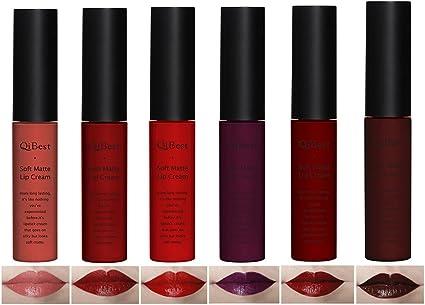 Molie Pro nueva barra de labios suave Dull Mate líquido Pintalabios Vintage larga duración impermeable maquillaje (brillo de labios cosméticos labios – Pack de 6 diferentes colores: Amazon.es: Belleza