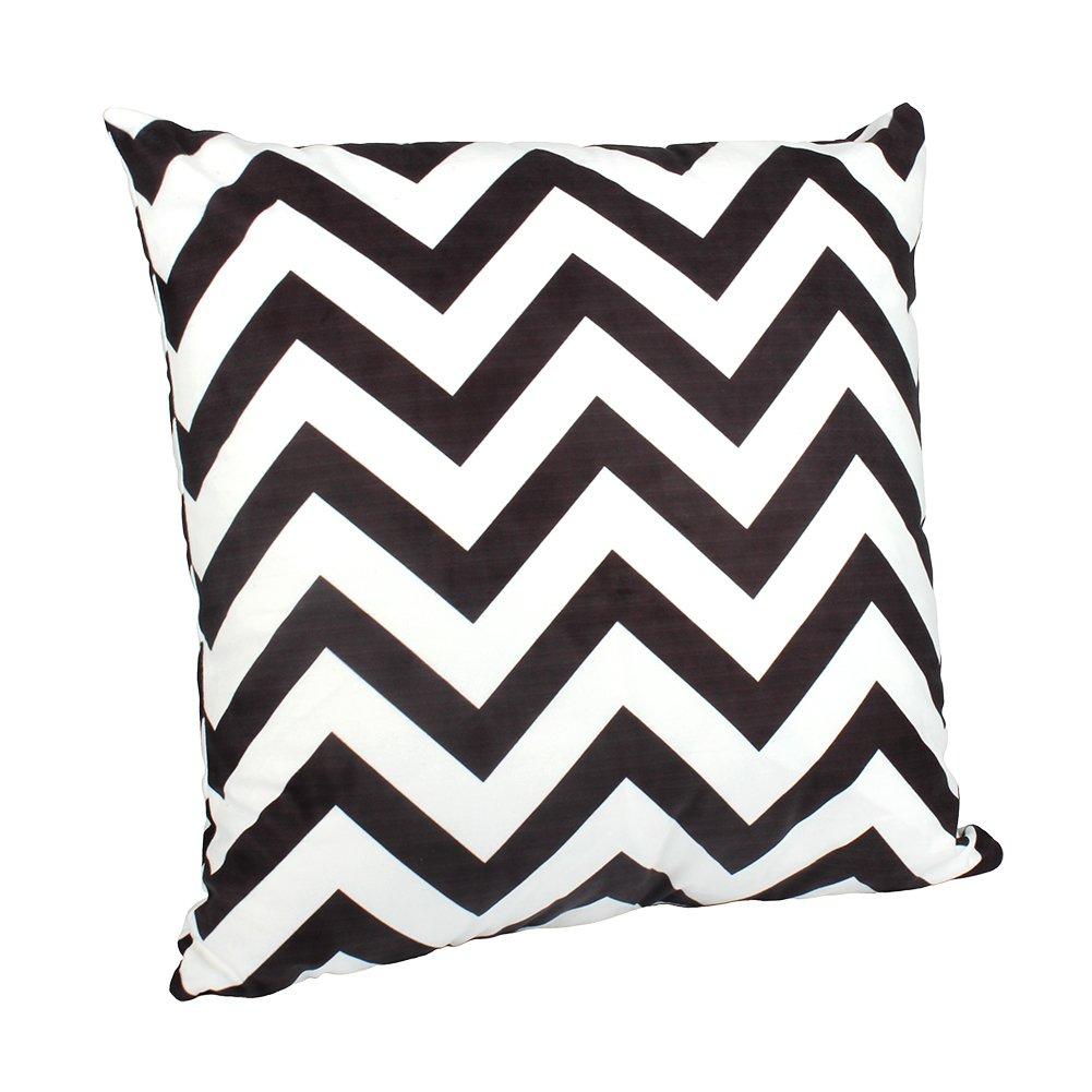 outflower funda de almohada diseño de ola blanco y negro zig-zag ...
