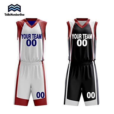 e41854be5fc9 Custom Reversible Basketball Jerseys Set Sportswear Custom Your Number Your  Name Two Side Uniform (S