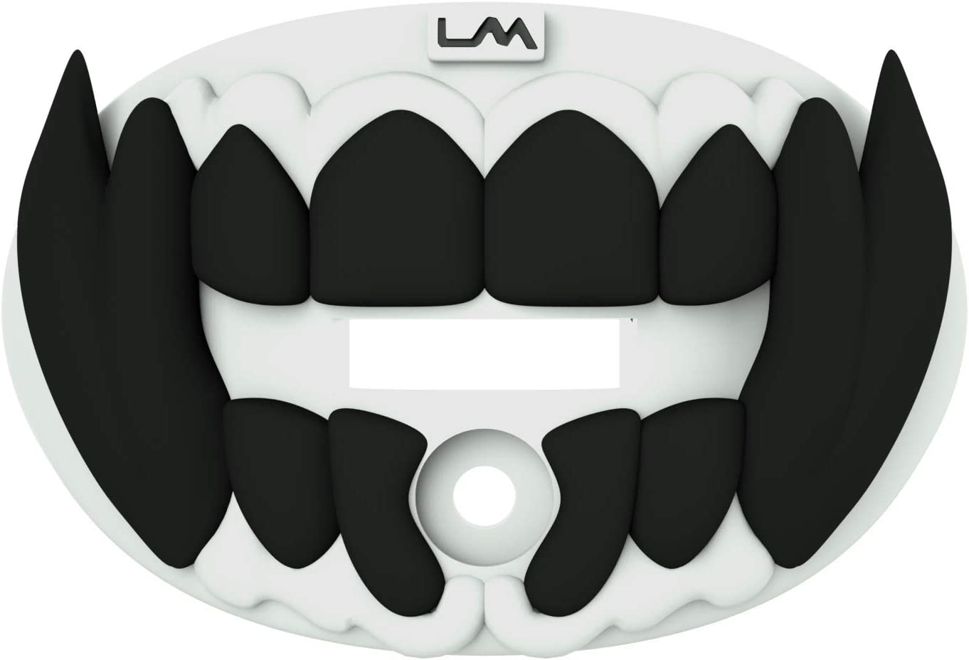 3D Beast Adult and Youth Mouth Guard Pacifier Lip and Teeth Protector Maximum Air Flow Mouth Guards Loudmouth Football Mouth Guard White and Black Mouth Piece for Sports
