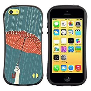 Be-Star Colorful Printed Design Anti-Shock Iface First Class Tpu Case Bumper Cover For Apple iPhone 5C ( umbrella polka dot red rain painting ) Kimberly Kurzendoerfer