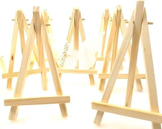 JZK 10 x Mini pequeña madera caballete para boda foto menús ...