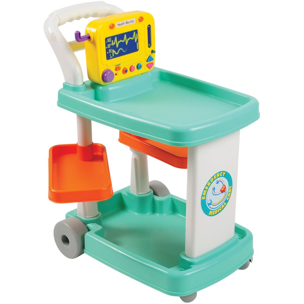 Constructive Playthings RED-94 Emergency Medical Cart for Pretend Play, Grade: Kindergarten to 3 by Constructive Playthings (Image #4)