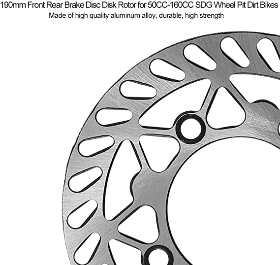 DISCHI FRENO DISCO DISCO DISCO 190 MM FRENO ANTERIORE DISCHI POSTERIORE 50CC-160CC SDG Wheel Pit Dirt Bikes