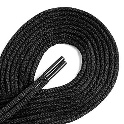 Waxed Thin Dress Round Shoelaces 1 Pair Pack