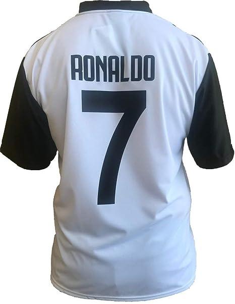 Camiseta Juventus Cristiano Ronaldo 7 - CR7 - Replica Económica autorizzata Juventus + Bandera Oficial Evento Escudo 36 - Bimbo (Tallas 2 4 6 8 10 12) ...