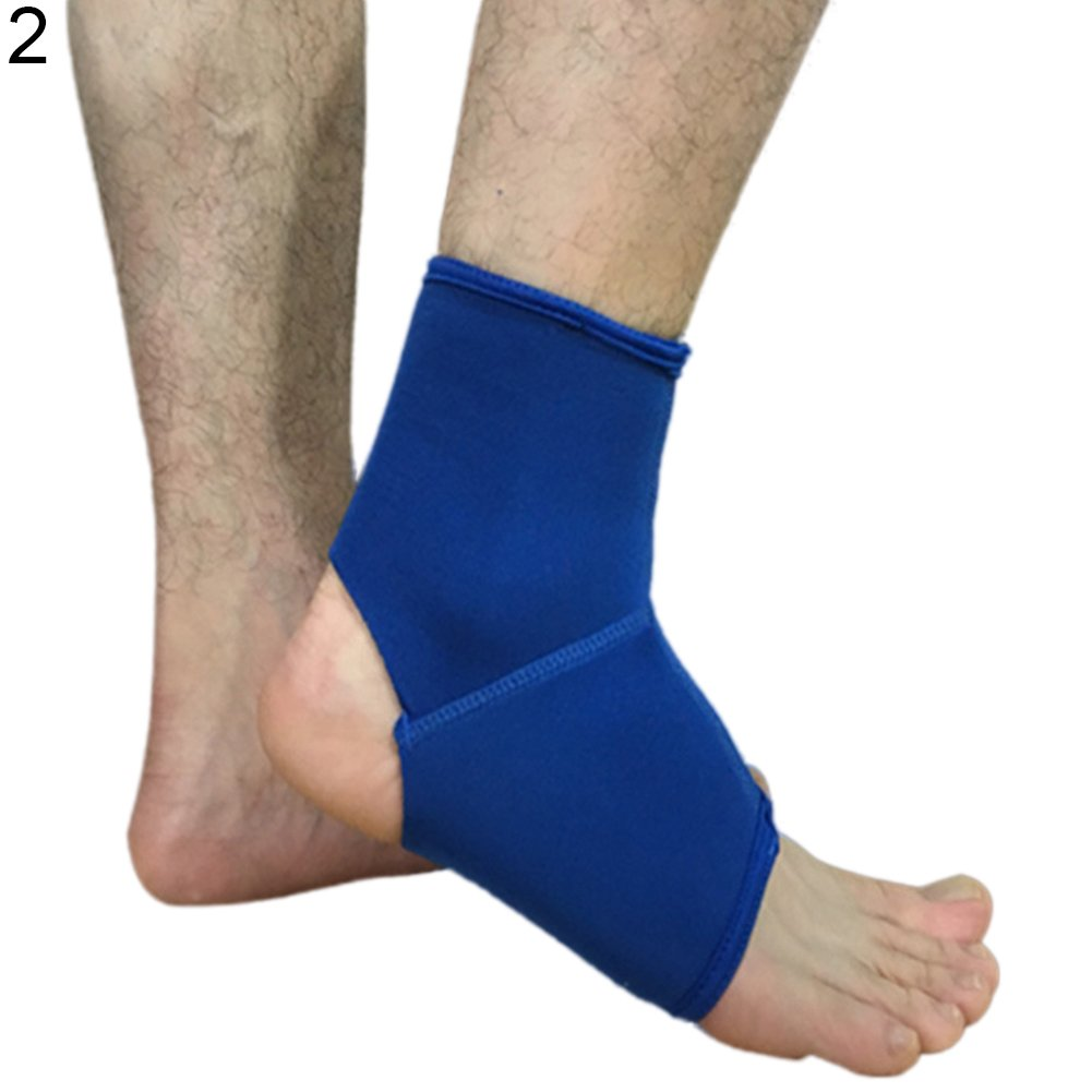Alamana Ankle Bracer Solid Color Running Basketball Sports Sprain Unisex Ankle Protector Blue S
