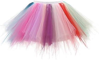Mini Falda De Ballet Skirt, Xinantime Faldas Tul Mujer Enaguas ...