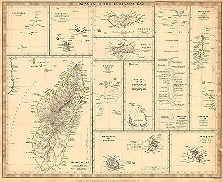 Indian ocean madagascar seychelles maldives mauritius runion sduk indian ocean madagascar seychelles maldives mauritius runion sduk 1844 old antique vintage publicscrutiny Choice Image