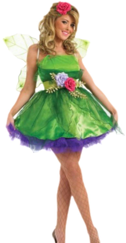 Damen Märchenfee Zauberprinzessin Kostüm, XXL, Grün