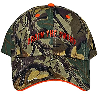 "Trump ""Drain The Swamp"" Camouflage Cotton Twill Low Profile Hunting Hat"