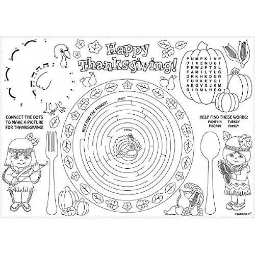 Thanksgiving Coloring Placemats: Amazon.com